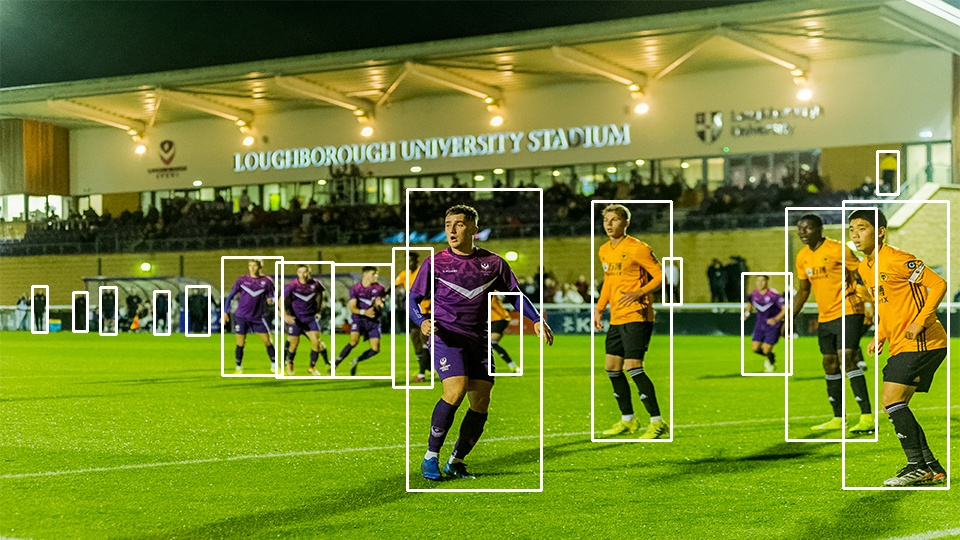 Ben Lumely photography. Image shows position of players on the pitch