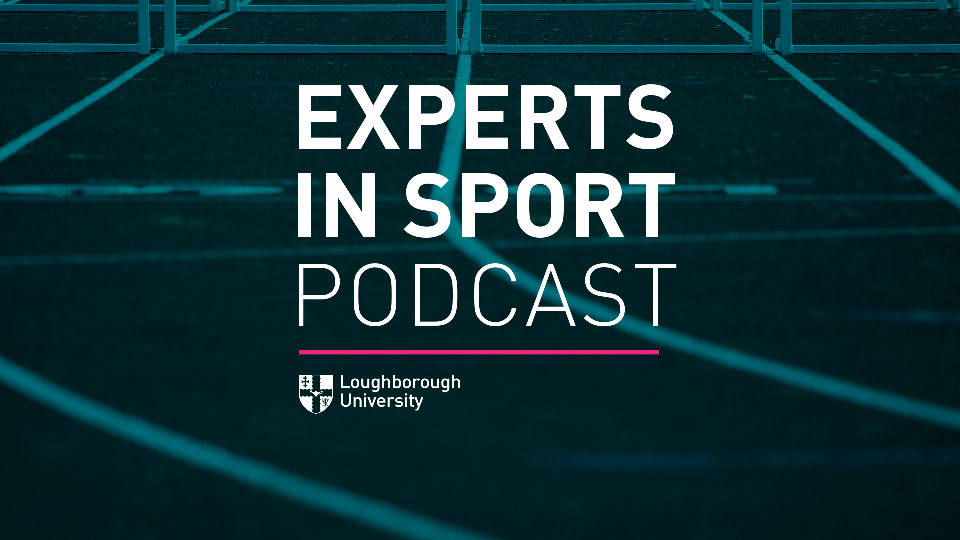 The artwork for the latest experts in sport podcast