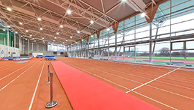 High performance athletics centre running track