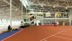 High performance athletics centre indoor