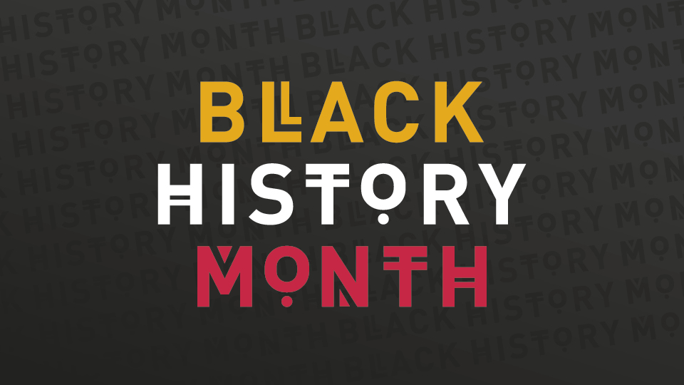 Poster promoting Black History Month