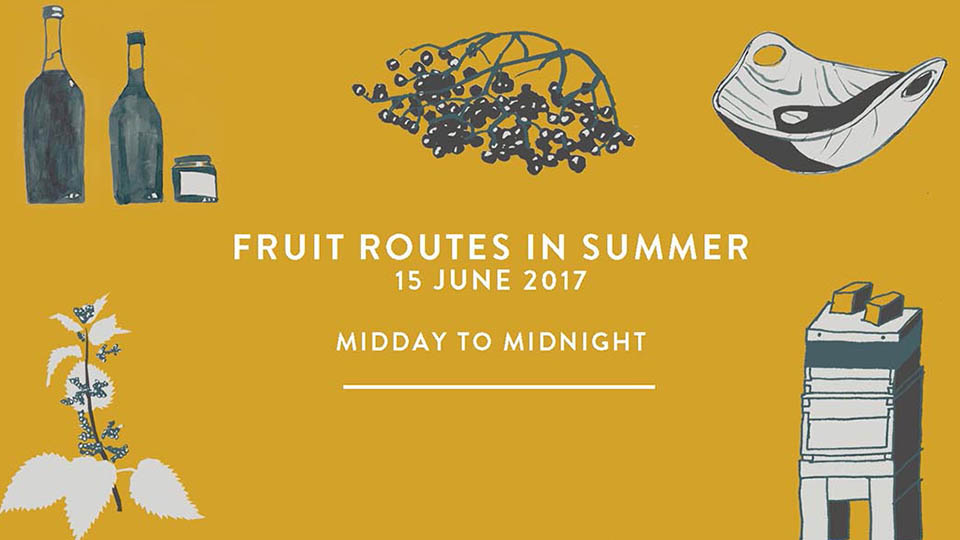 Advertisement for fruit routes summer 207 event