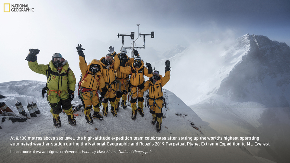 Tom and the team on Mount Everest
