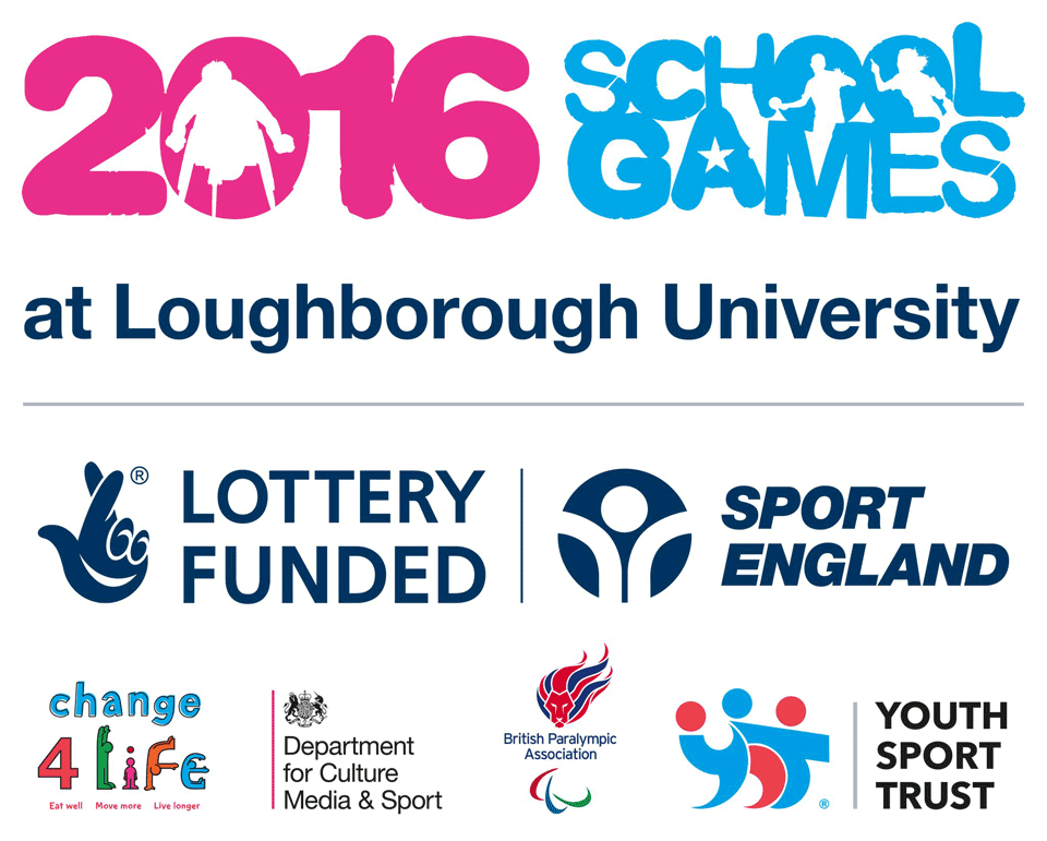 2016 School Games at Loughborough University. Lottery Funded. Sport England.