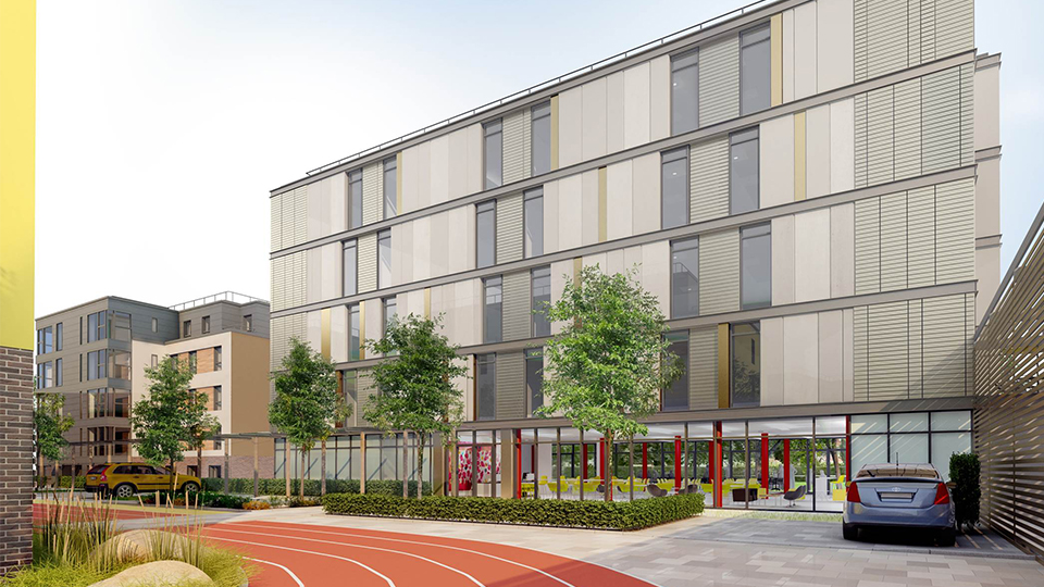 illustration of the Elite Athlete Centre at Loughborough