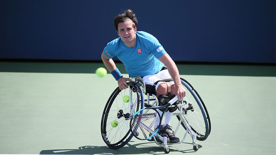 One of the athletes qualified for the 2017 NEC Wheelchair Tennis finale