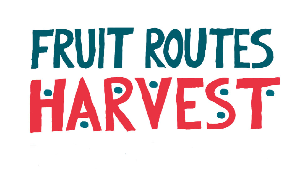 Fruit routes harvest poster