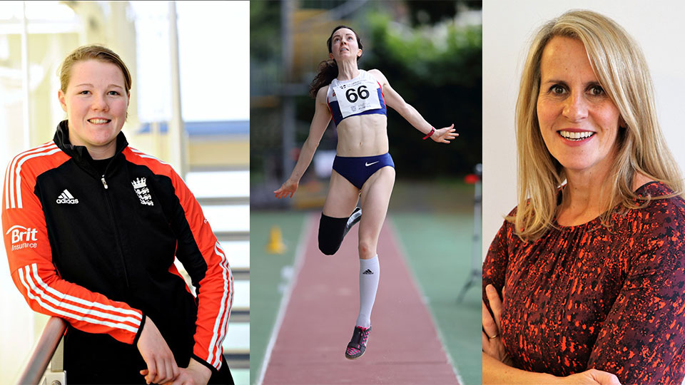 Photos of Anya Shrubsole, Stef Reid, Sue Anstiss who have been named in the 2018 New Year Honours list.