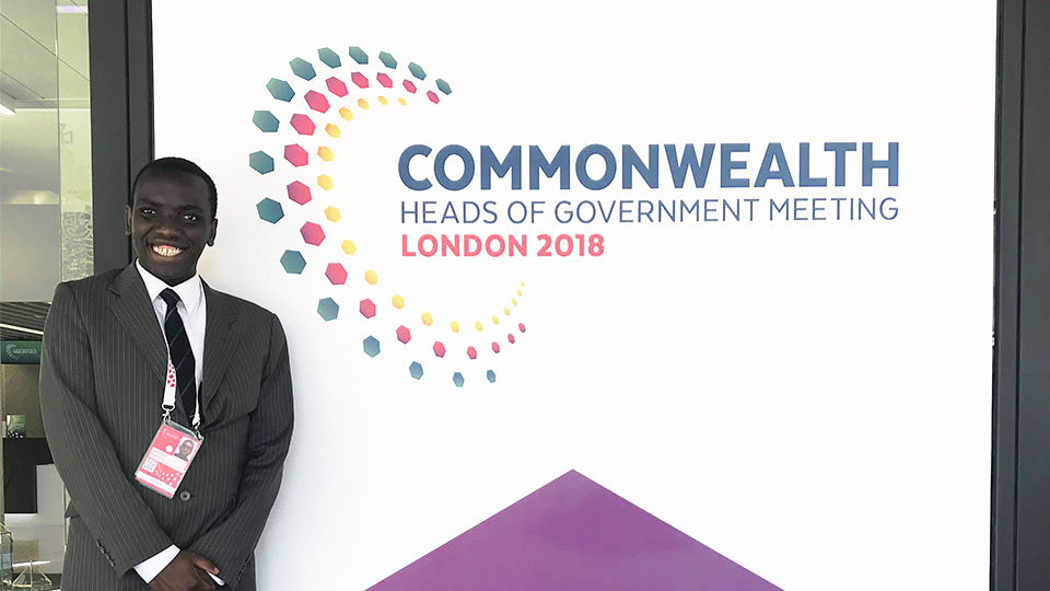 Paul at the CHOGM 2018