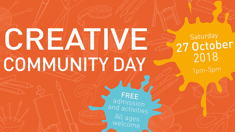 poster to promote the Creative Community Day event