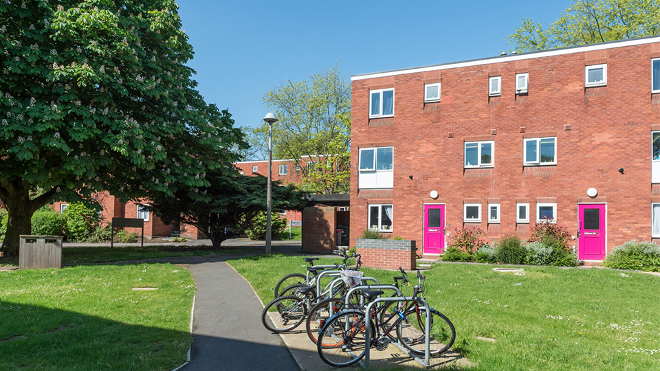 outside photo of Falkner Eggington halls of residence