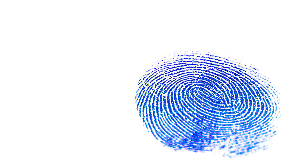 Pictured is a fingerprint.