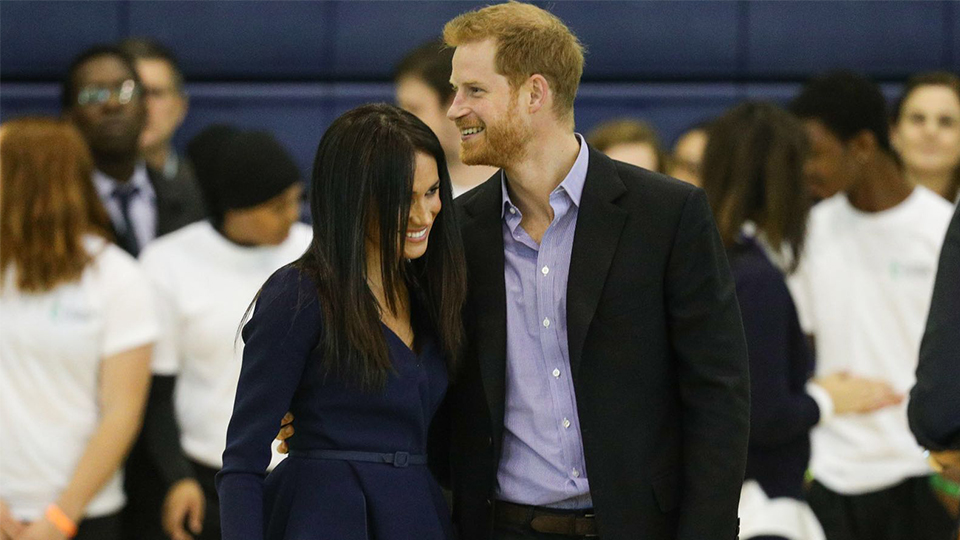 photo of The Duke and Duchess of Sussex Prince Harry and Meghan at Loughborough University