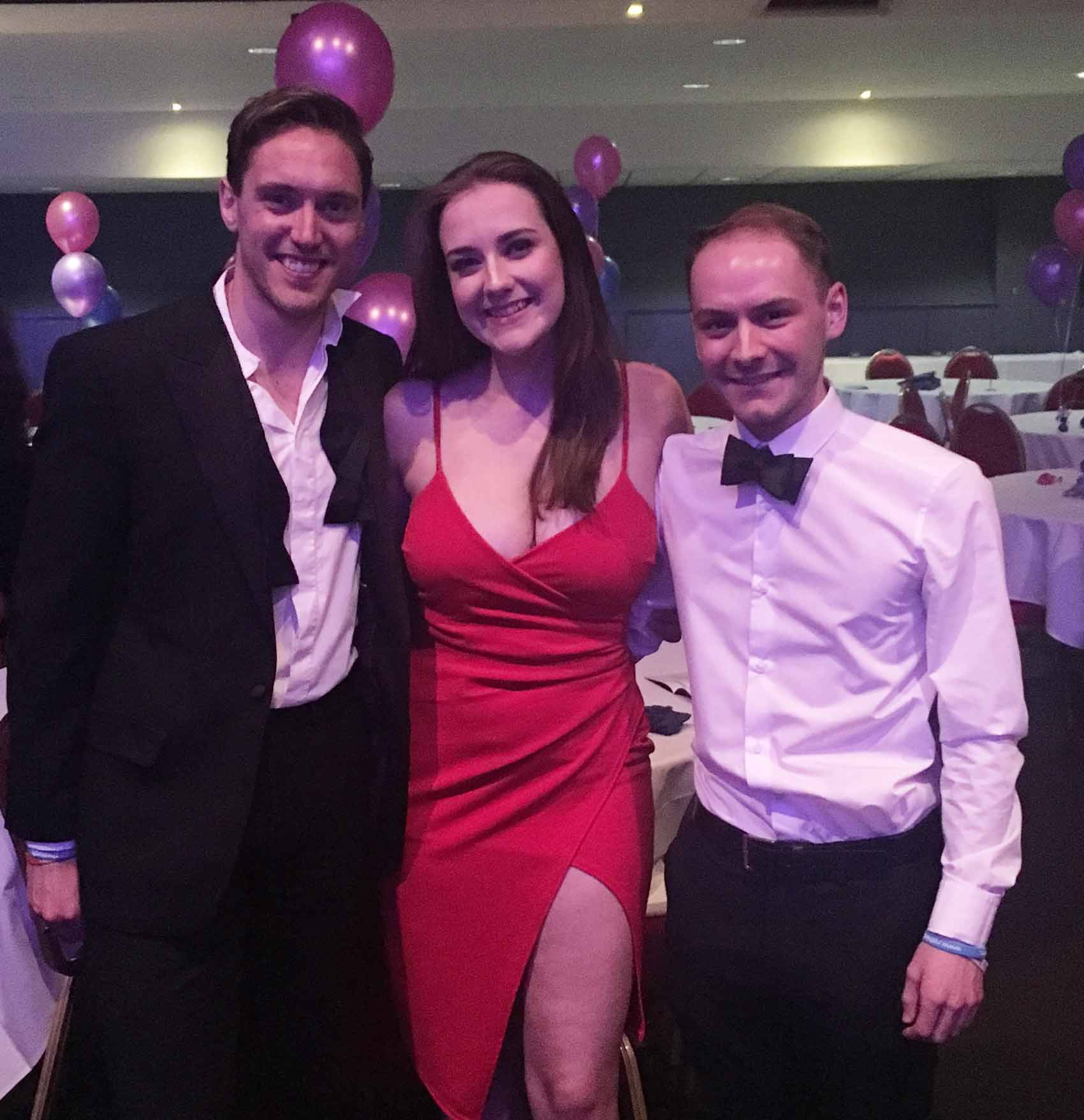 LSU  LGBT+ Officer Chris McLeod, Hannah Keating, LSU Welfare and Diversity Executive Officer and Nightline Coordinator Matt Youngs.