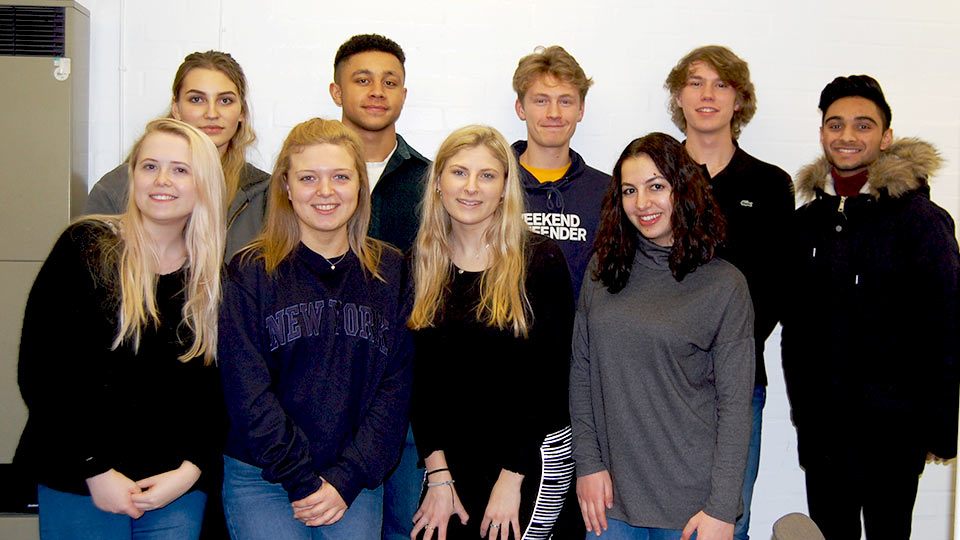 Pictured are the Loughborough University student mentors.