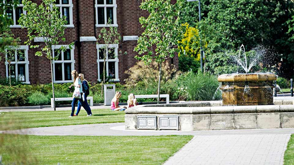 Pictured are students on the Loughborough campus.