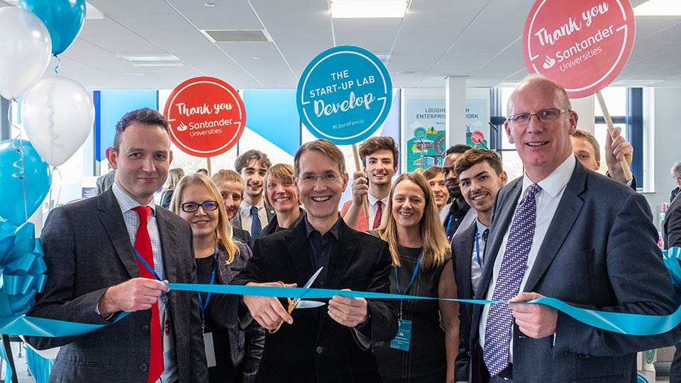 Pictured are members of the University community at the launch of The Start-Up Lab.