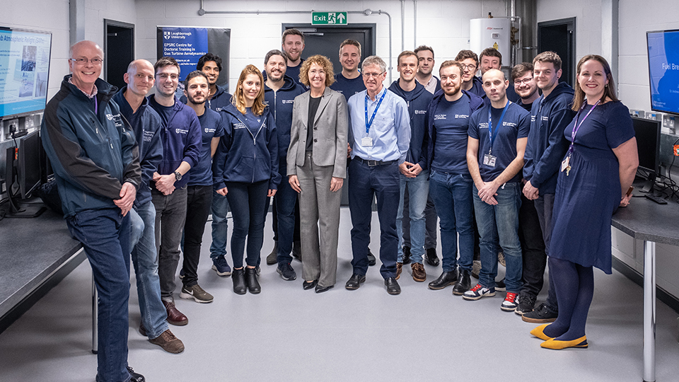 Photo of Rolls-Royce UTC with Dr Sandra Magnus
