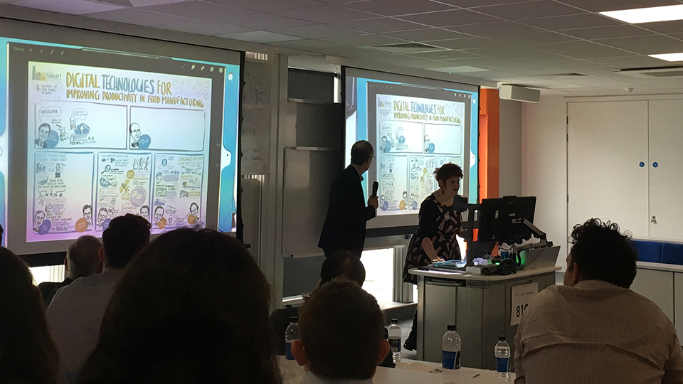 photo of a presentation at the Centre of SMART conference at Loughborough University London