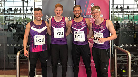 Loughborough 4x100m quartet set record time