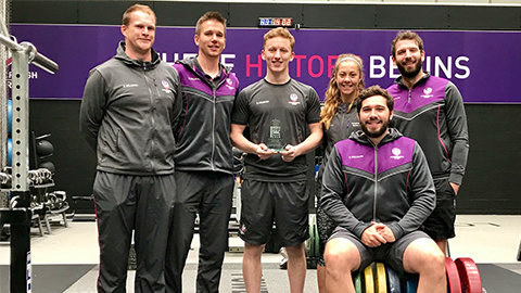 The victorious Loughborough Sport Strength & Conditioning team.
