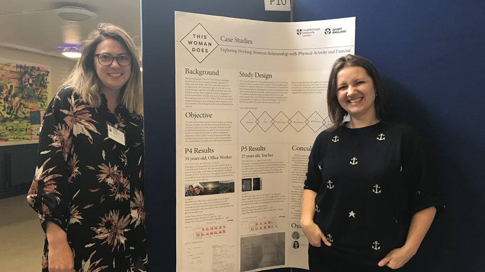 Dr Holly Collison and Dr Ksenija Kuzmina presented their project 'This Woman Does!'.