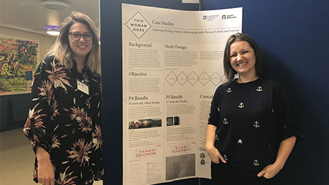 Dr Holly Collison and Dr Ksenija Kuzmina presented their project 'This Woman Does!'