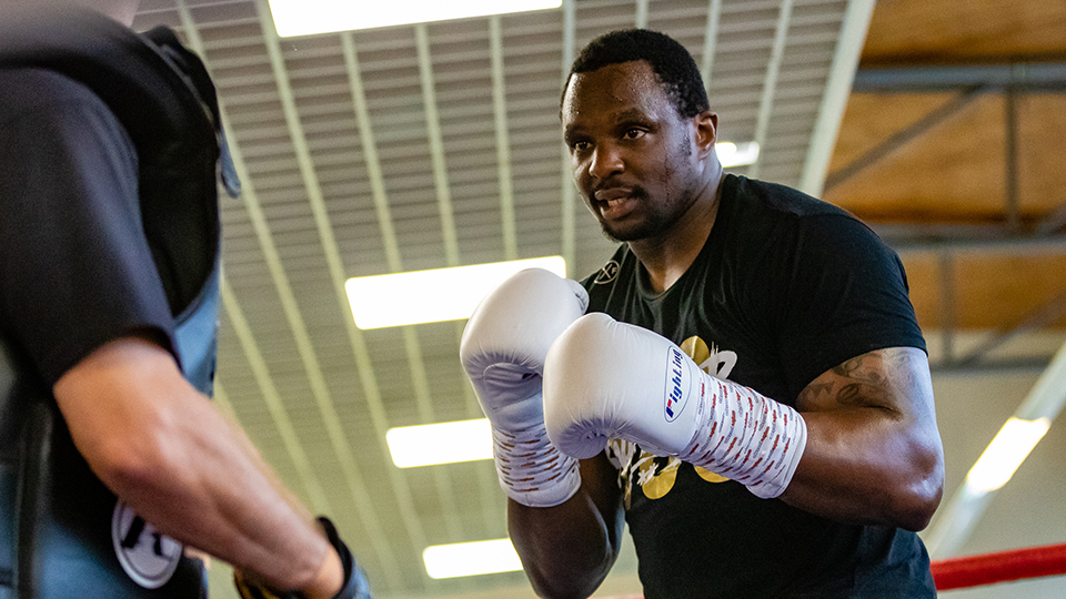 Dillian Whyte, who trains at Loughborough University, beat Oscar Rivas in thrilling heavyweight bout.