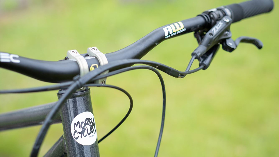 close up of Tom Bugler's bike