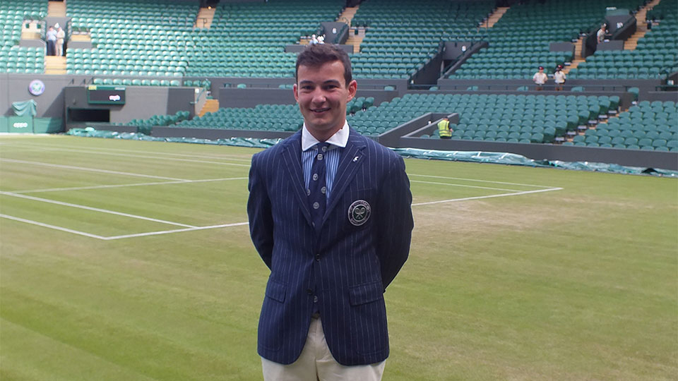 Tom Plowman at Wimbledon