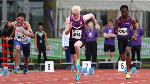 Zak Skinner (centre) is one of ten Loughborough-based athletes to be selected in the GB Para Athletics squad for the upcoming World Championships.