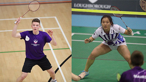 Loughborough pair Max Flynn and Fee Teng produced a stunning performance to take the Mixed Doubles title at the English National Badminton Championships.