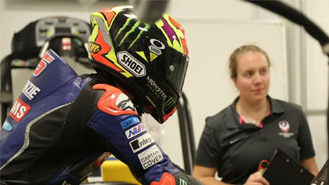 Jake Dixon, Tarran Mackenzie, and Taylor Mackenzie were the latest motorcycle racers making the most of Loughborough's state-of-the-art facilities, spending two days testing at the University's Performance Centre.