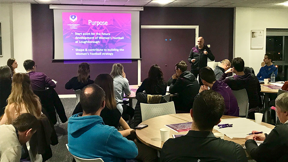 The Women's Football consultation was held on campus