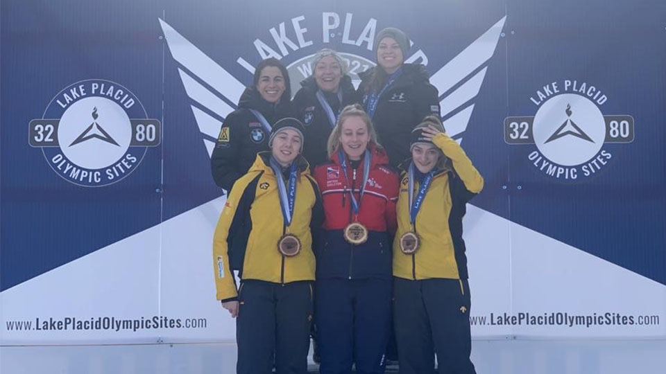 Loughborough alumna Kimberley Murray has secured Gold following an impressive performance in the Inter-Continental Cup skeleton race at Lake Placid, USA.