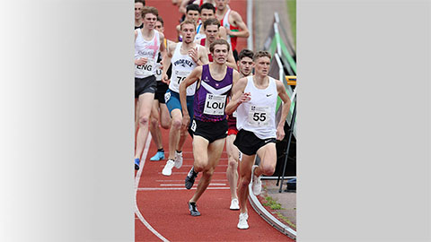 Joshua Lay runs for Loughborough