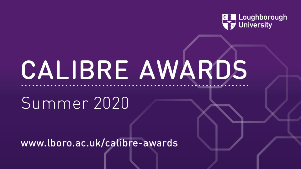CALIBRE Awards Summer 2020 purple graphic
