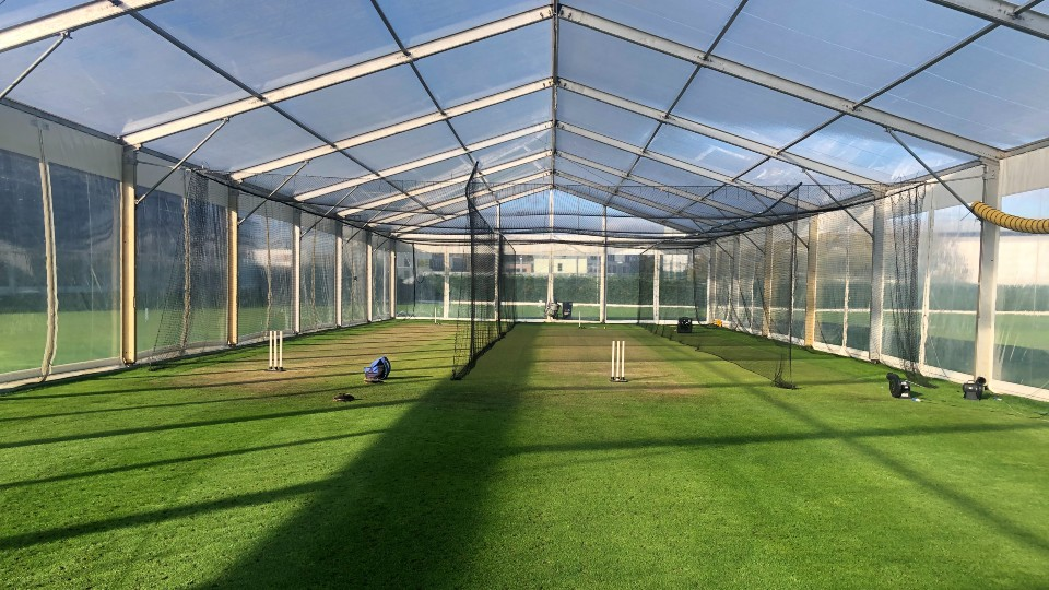 The ECB and Loughborough University cricket marquee