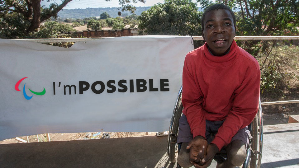 An image from Loughborough University's para sport project in Africa