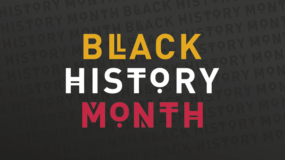 Graphic logo for Black History Month