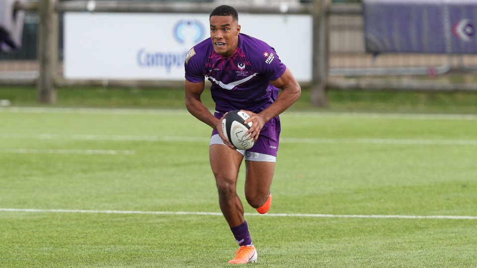 A Loughborough rugby student in action in Kukri kit