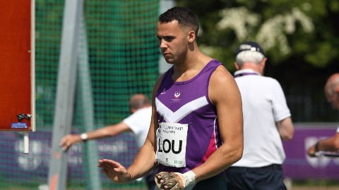 Taylor Campbell won the men's event at the Loughborough Winter Throws Meeting with British Athletics