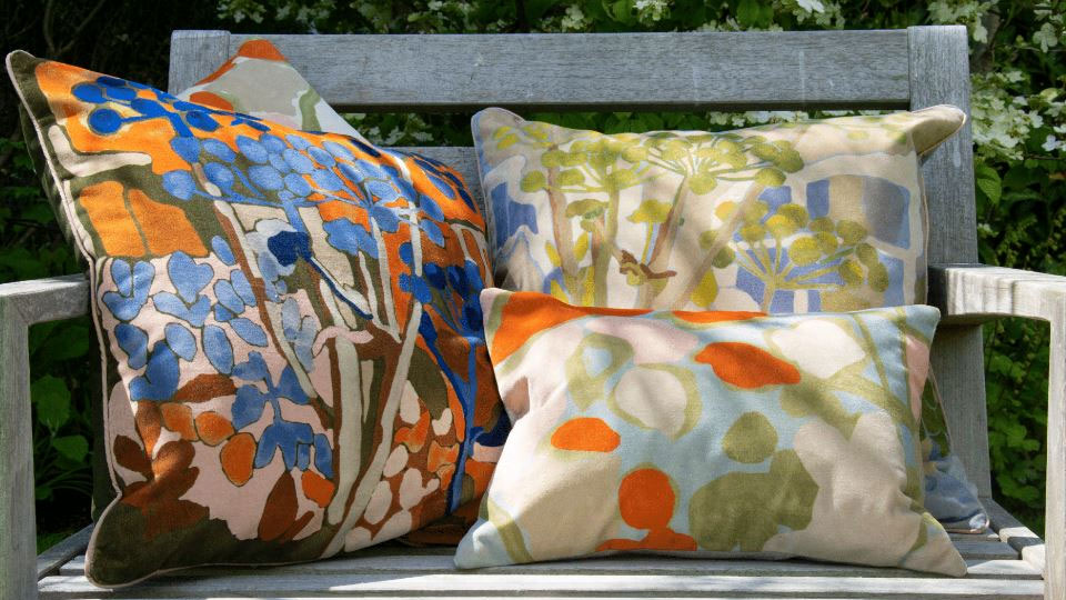 A Garden of One's Own cushions
