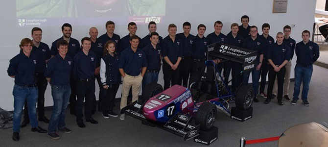 The group of students at the Formula Student launch