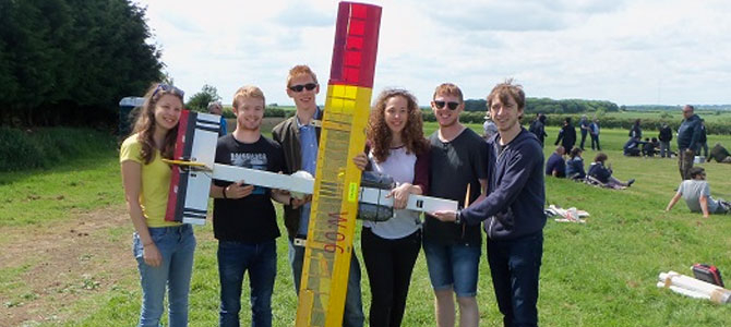 Team Yusuf with their aircraft