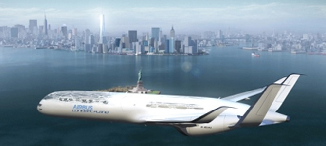 An artists impression of a future aircraft design