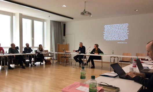 Chris giving a paper at the 'National Socialist Morality' conference in Frankfurt, 18.9.15