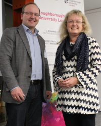 ‌Dr Peter Heisig with Dr Gillian Ragsdell