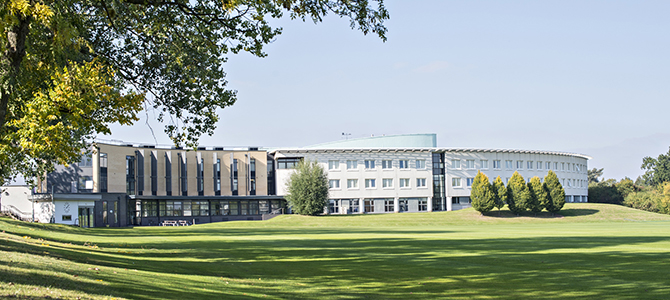 SBE building from the cricket pitch