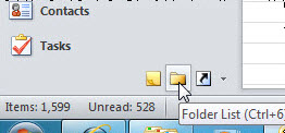 Screen image: Folder View button.